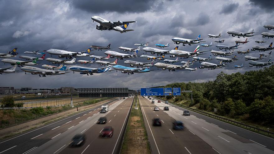 Portrete aeriene: Uimitorul zbor simultan al unor zeci de avioane - Poza 9