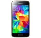 Telefon Mobil Samsung Galaxy S5 Mini, Procesor Quad Core 1.4GHz Cortex-A7, Super AMOLED 4.5inch, 1.5GB RAM, 16GB Flash, 8MP, 4G, Wi-Fi, Android (Auriu)