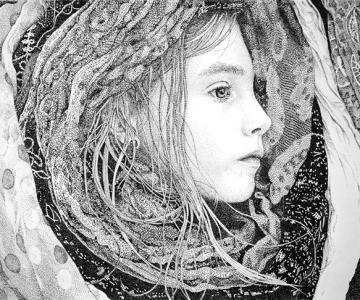 Portrete din mii de puncte, de Pablo Jurado Ruiz