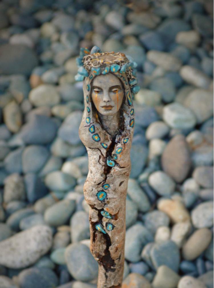 Spiritele naturii: Sculpturi himerice gingase - Poza 7