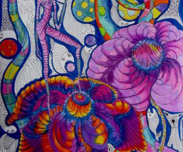 Alexandra Hahn picteaza naiv vise suprarealiste