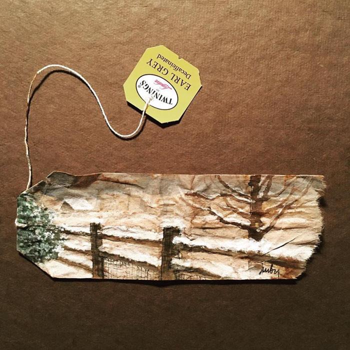 Pictura pe saculeti de ceai, de Ruby Silvious - Poza 11