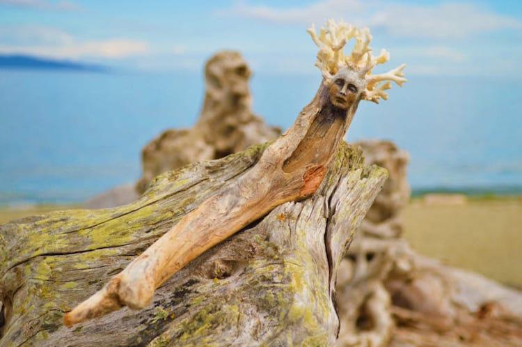 Spiritele naturii: Sculpturi himerice gingase - Poza 3