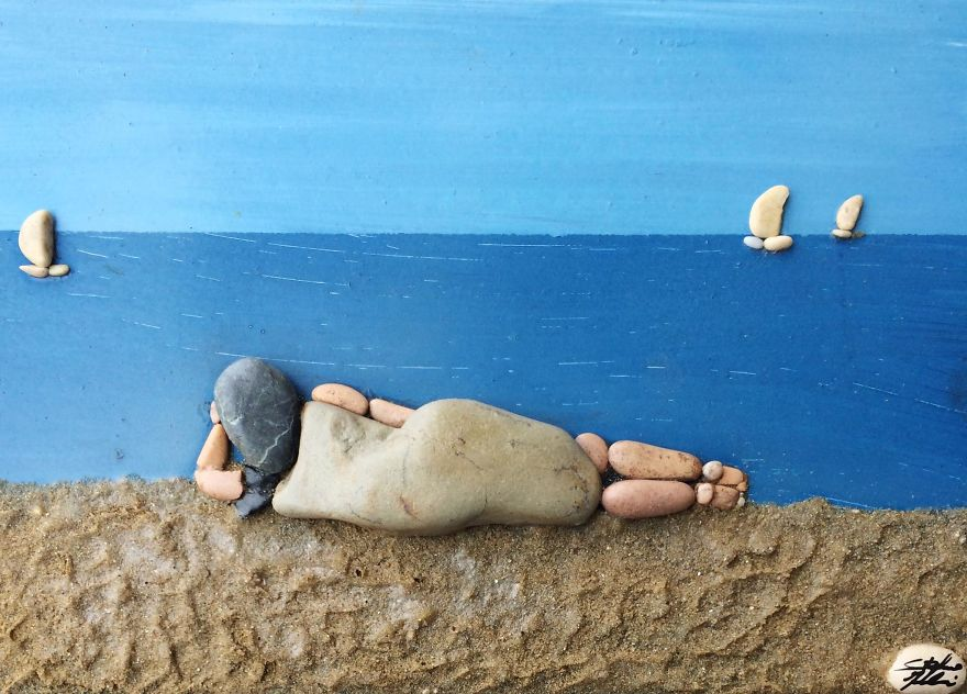 Creatii artistice cu pietre - Poza 1