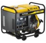 Aparat de sudura Kipor KDE 280 EW, 5.0 kVA, 250A, 2 cilindrii in V, 4 timpi, Diesel