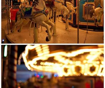 Fotografiile unui carusel plin de culoare