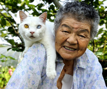 Bunica Misao si pisica Fukumaru, prietene de-o viata