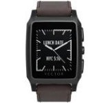 Smartwatch Vector Meridian Standard M1-20-003, Bluetooth, Bratara piele, Rezistent la apa si praf (Negru/Maro)