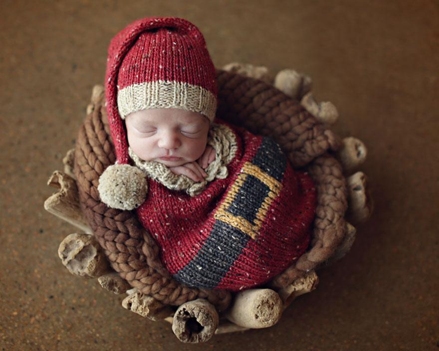 15+ Bebelusi adorabili in asteptarea Craciunului - Poza 5