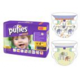 Scutece Pufies Baby Art&Dry Maxi 4, Carry pack, 36 buc, model JUNGLE PALS