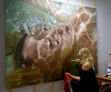 Amintiri de sub apa, in picturi realiste