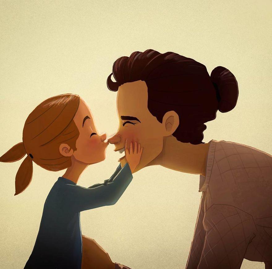 Cele mai frumoase clipe ale copilariei, in ilustratii nostalgice - Poza 9