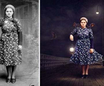 Fotografii din Romania interbelica, suprarealist nuantate