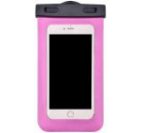 Husa Waterproof Devia DVWPBRR pentru telefoane pana la 5.5inch, cu adaptor audio 3.5mm, armband si agatatoare (Roz)