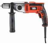 Masina de gaurit cu percutie Black&Decker KR1102K-QS, 13mm, 1100W