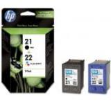 Cartuse cerneala HP 21 / 22 (Negru / Color)