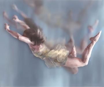 Pictura in straturi transparente, de Michelle Jader
