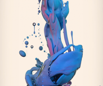 Fotografii abstracte cu vopseluri si ulei, de Alberto Seveso