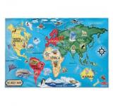 Puzzle de Podea Harta Lumii - Jucarii Melissa and Doug