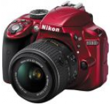 Aparat Foto D-SLR Nikon D3300 Kit 18-55mm VR, Filmare Full HD, Rezolutie 24.2 MegaPixeli (Rosu)