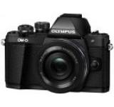 Aparat Foto Mirrorless Olympus E-M10 Mark II + Obiectiv EZ-M1442EZ Pancake, 16.1 MP, Filmare Full HD (Negru)