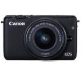 Aparat Foto Digital Canon Eos M10 15-45 kit, 18 MP, Filmare Full HD (Negru)
