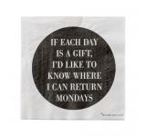 Servetele de hartie 'Monday', Black/White