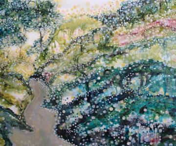 Peisaje delicate, pictate de Yukari Kahori