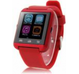 Smartwatch iUni U8i, Capacitive touchscreen, Bluetooth, Bratara silicon (Rosu)