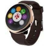 Smartwatch MyKronoz ZeRound, Ecran Touchscreen TFT 1.22inch, Bluetooth (Auriu/Maro)
