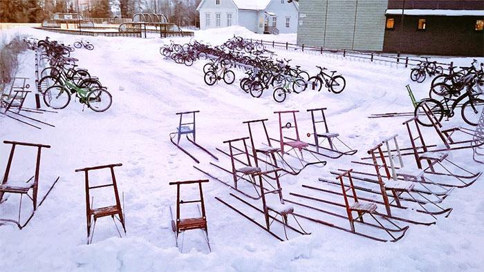 Cu bicicleta, la -17 grade Celsius - Poza 2