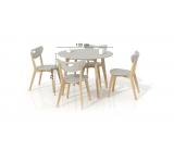 Set Masa Peppita Grey + 4 scaune