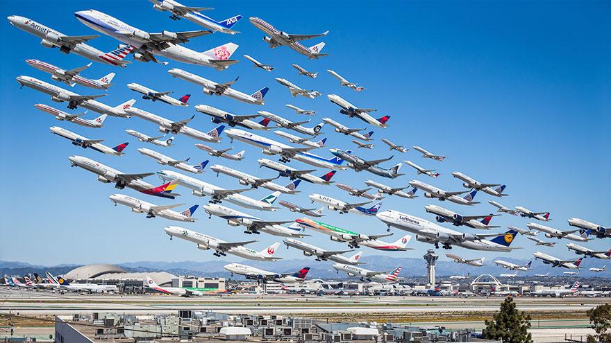 Portrete aeriene: Uimitorul zbor simultan al unor zeci de avioane - Poza 3