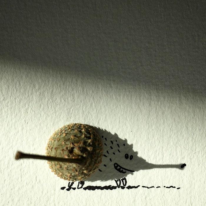 15+ Ilustratii haioase cu umbre - Poza 18