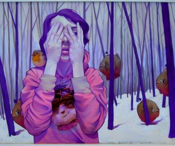 Picturi suprarealiste pe panza, de la Etam Cru