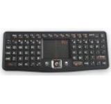 Tastatura mini RII RTMWK03, wireless, qwerty, multimedia cu touchpad, iluminata