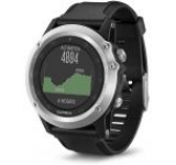 Ceas activity outdoor tracker Garmin Fenix 3 HR, Bratara din silicon (Negru/Argintiu)