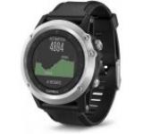 Ceas activity outdoor tracker Garmin Fenix 3 HR, Bratara din silicon (Negru/Argintiu)