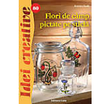Flori de camp pictate pe sticla - Idei creative 80