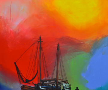 Marea metaforic multicolora, pictata de Joshua Petker
