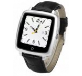 Smartwatch iUni iUni U11C Plus, Capacitive touchscreen 1.54inch, 64MB RAM, Bluetooth, Bratara piele, Functie telefon, 3MP (Negru-Argintiu)