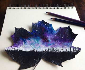 Franturi de lume asezate pe frunze