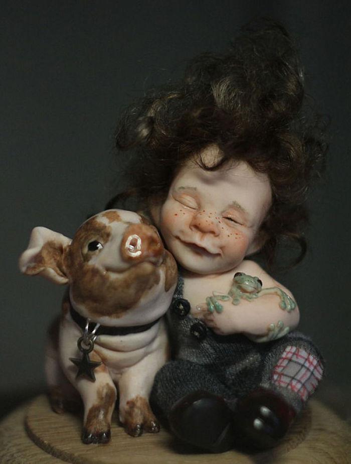 Papusi realiste superbe, de Elena Kirilenko - Poza 5