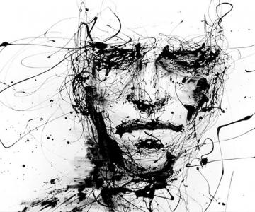 Portrete expresive din cerneala, de Agnes-Cecile