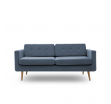 Canapea Fixa 3 locuri Sondero Light Blue/Natural