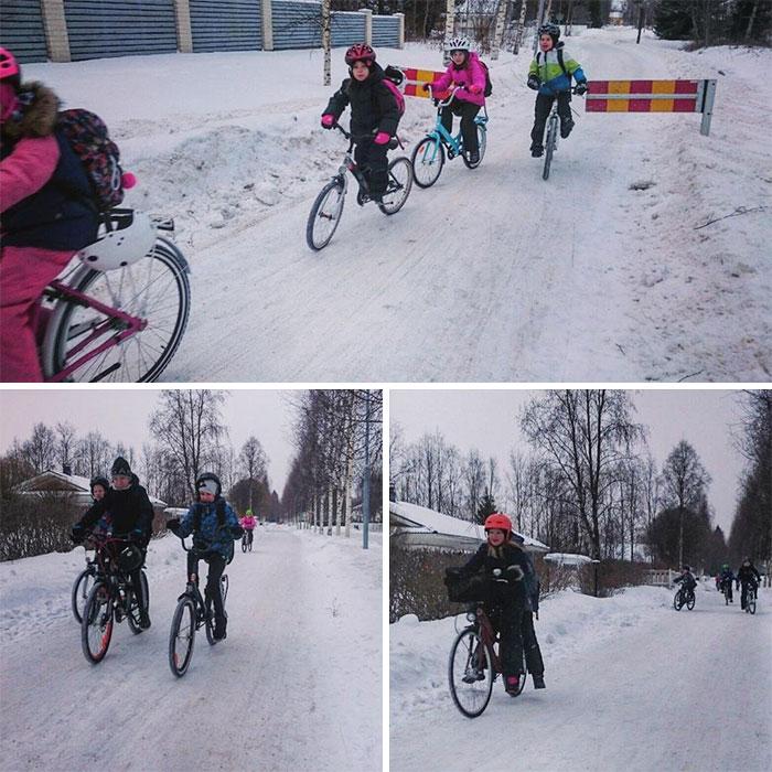 Cu bicicleta, la -17 grade Celsius - Poza 3