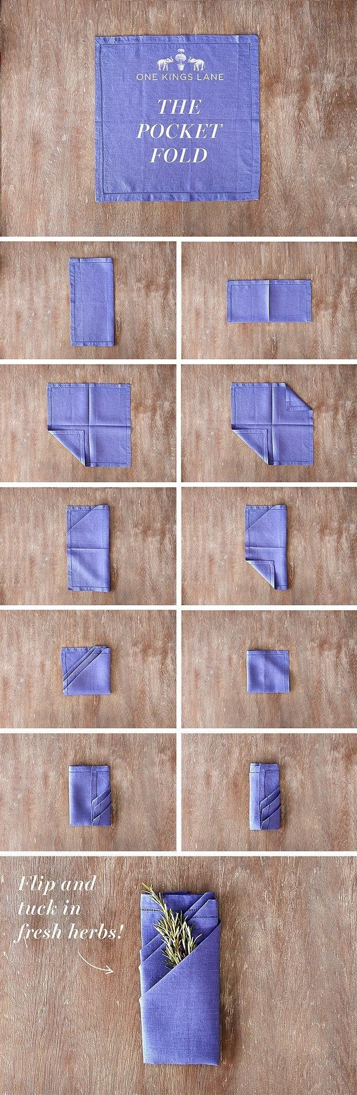 Pentru Revelion: Tehnici geniale de impaturire a servetelelor - Poza 15
