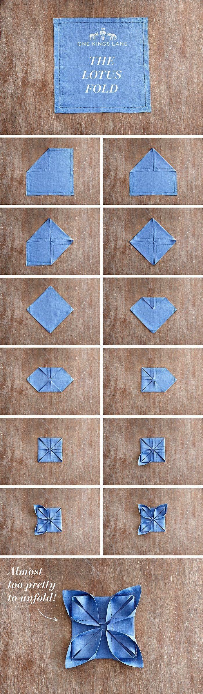 Pentru Revelion: Tehnici geniale de impaturire a servetelelor - Poza 1