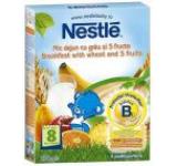 Cereale Nestle 5 mic dejun grau fructe 250g, 8 luni+