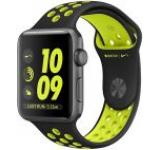Smartwatch Apple Watch 2 Nike Plus, Retina OLED Capacitive touchscreen 1.5inch, Bluetooth, Wi-Fi, Bratara Silicon 38mm, Carcasa Aluminiu, Rezistent la apa si praf (Negru/Negru/Verde)